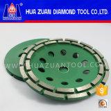 Абразивный диск чашки рядка двойника диаманта Huazuan для камня