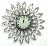 Reloj de pared accesorio decorativo del metal del metal del alambre de la hora de 12 números