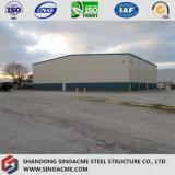 Sinoacme ha prefabbricato la tettoia chiara del gruppo di lavoro della struttura d'acciaio