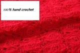 Vestito dal pannello esterno del partito di sera del fiore della frangia del cotone del Crochet della mano di 100%