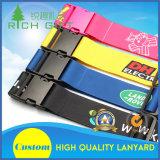 スクリーンによって印刷されるロゴのカスタムナイロン印刷の荷物ストラップまたはベルトおよび名札