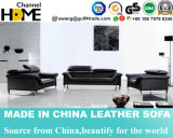 Sofa moderne de salle de séjour de cuir véritable de sofa sectionnel des loisirs 1+2+3 (HC6039)