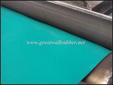 Verde Negro compuesto de caucho NBR antiestático Hoja Mat
