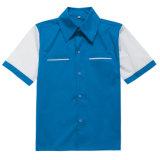卸し売り衣類の製造者の男の子二重カラーボーリングのワイシャツ