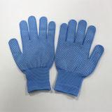 PVC стороны сигнала Sanjian голубой поставил точки перчатка работы оборудования перчатки Anti-Slip