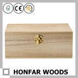DIYのための未加工未完成の木箱のギフト用の箱包装ボックス
