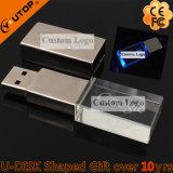 Het Kristal USB Vierkante Pendrive van de Gift van het Embleem van de Gravure van de laser (yt-3270)