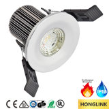 8W Dimmable Fire Rated IP65 impermeável LED Light para banheiro