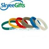 Bracelet fait sur commande bon marché de silicones de bandes de poignet de silicones