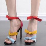 Причудливый конфета девушок красит сандалии высокой пятки (HT-S1008)