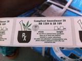 Herb juridique de l'emballage du papier adhésif autocollant de l'impression