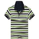 Camicia di polo su ordinazione degli uomini del cotone