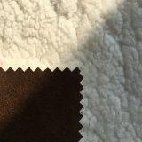 Tessuto di seta naturale dello Spandex del poliestere con il panno morbido polare legato