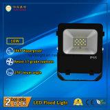 Iluminação de inundação LED de alta qualidade de 10W IP65 para uso ao ar livre