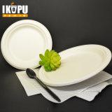100% Biogradeable plato de papel