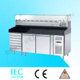 Compteur Refrigerator-Sh2000/800 de préparation de sandwich à 2 portes