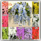 Novo Design de seda de plástico Glicínias Flores artificiais de casamento