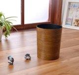 Escaninho de lixo plástico de madeira de imitação 10L do escaninho de poeira do escaninho Waste