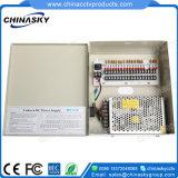 CC 12V 5A (12VDC5A9P) della casella dell'alimentazione elettrica della macchina fotografica del CCTV delle 9 Manica