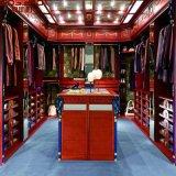 Promenade en bois blanche de vêtements dans la garde-robe et le cabinet (GSP17-024)