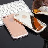 Caja plateada oro del teléfono del OEM 18k 24k TPU para el iPhone 6 6 más