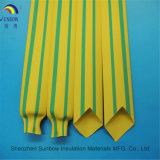 Gaine thermorétractable jaune vert
