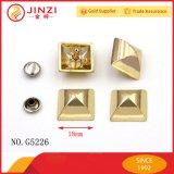 Ribattini di qualità superiore della piramide del metallo degli accessori della borsa