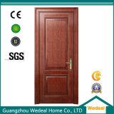 Porte d'intérieur MDF en placage en bois de chêne rouge