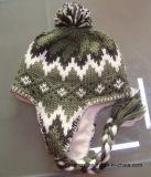 Winterkundenspezifischer Acrylsauerknithandgemachter POM POM Beanie-Hut