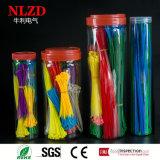 Ассорти кабельную стяжку реактивной тяги на молнии 1200 ПК/Jar смешанных разных цветов