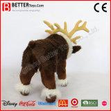 Stuk speelgoed van het Rendier van de Pluche van het Rendier van de Gift van Kerstmis het Realistische Gevulde Dierlijke Zachte