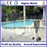 Zipolo dell'acciaio inossidabile con il coperchio della flangia per la recinzione del raggruppamento di Framless