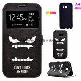 Чернь PU кожаный/крышка сотового телефона для Samsung A3 2017