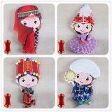 De speciale Chinese Magneet van de Koelkast van Artware van het Symbool Zachte