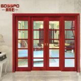 スライドガラスの二重葉の入口の木製のドアの販売(GSP3-009)