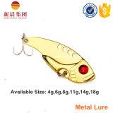 Or/attrait argenté de pêche en métal
