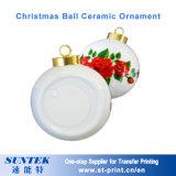 '' espacio en blanco de cerámica de la sublimación del ornamento de Bell de la Navidad 3