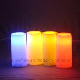 Multicolor de seguridad de incendios electrónico LED de lujo regalo de cumpleaños de vela romana