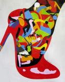 Het nieuwe Moderne Hoge Olieverfschilderij van het Canvas van de Manier van de Hiel Rode