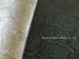Cuero del PVC de la resistencia de fuego para la tapicería de los muebles y la decoración suave interior
