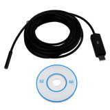 USB Endoscópio 7mm Lente 5m Cabo Impermeável 6 LED Borescope Tube Inspeção Vídeo Foto Captura Mini Camera