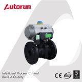 Wenzhou 제조자 Wcb 내무반 회전은 압축 공기를 넣은 공 벨브 플랜지를 붙였다
