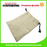 Natürlicher Drawstring-Segeltuch-Baumwollgewebe-Beutel für Kleidung