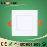 Ctorchセリウムの承認の2017年の超薄く平らな正方形LEDの照明灯3W
