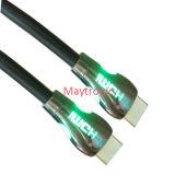 Nylon LED de alta velocidade com cabo HDMI de metal Shell 2.0