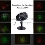 Luz laser de Navidad de la Navidad de la decoración de la estrella al aire libre impermeable de Red&Green