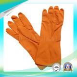 Guanti impermeabili del lattice di lavatura dei piatti dei guanti della famiglia con l'iso approvato