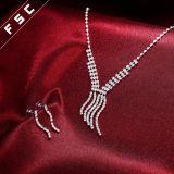 Conjuntos cristalinos de la joyería del partido de las borlas del diseño simple de la voga para las señoras