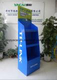 Vitrine de palette de carton ondulé en carton ondulé avec barre en métal pour Tplink