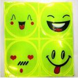 PVC Reflective rostos sorridentes Reflexivo personalizado Segurança Etiqueta